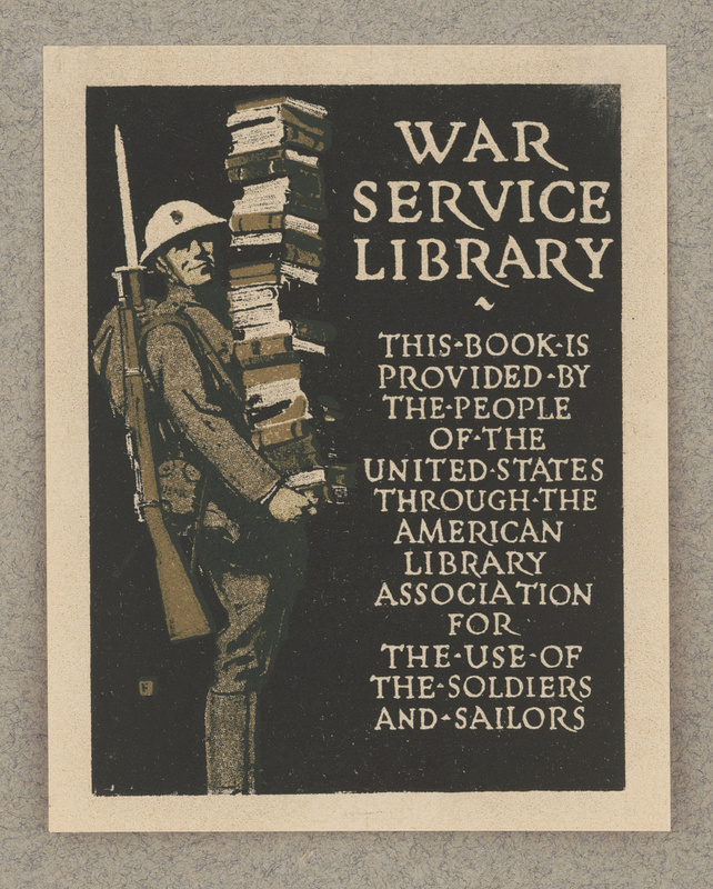 [Bookplate of War Service Library]